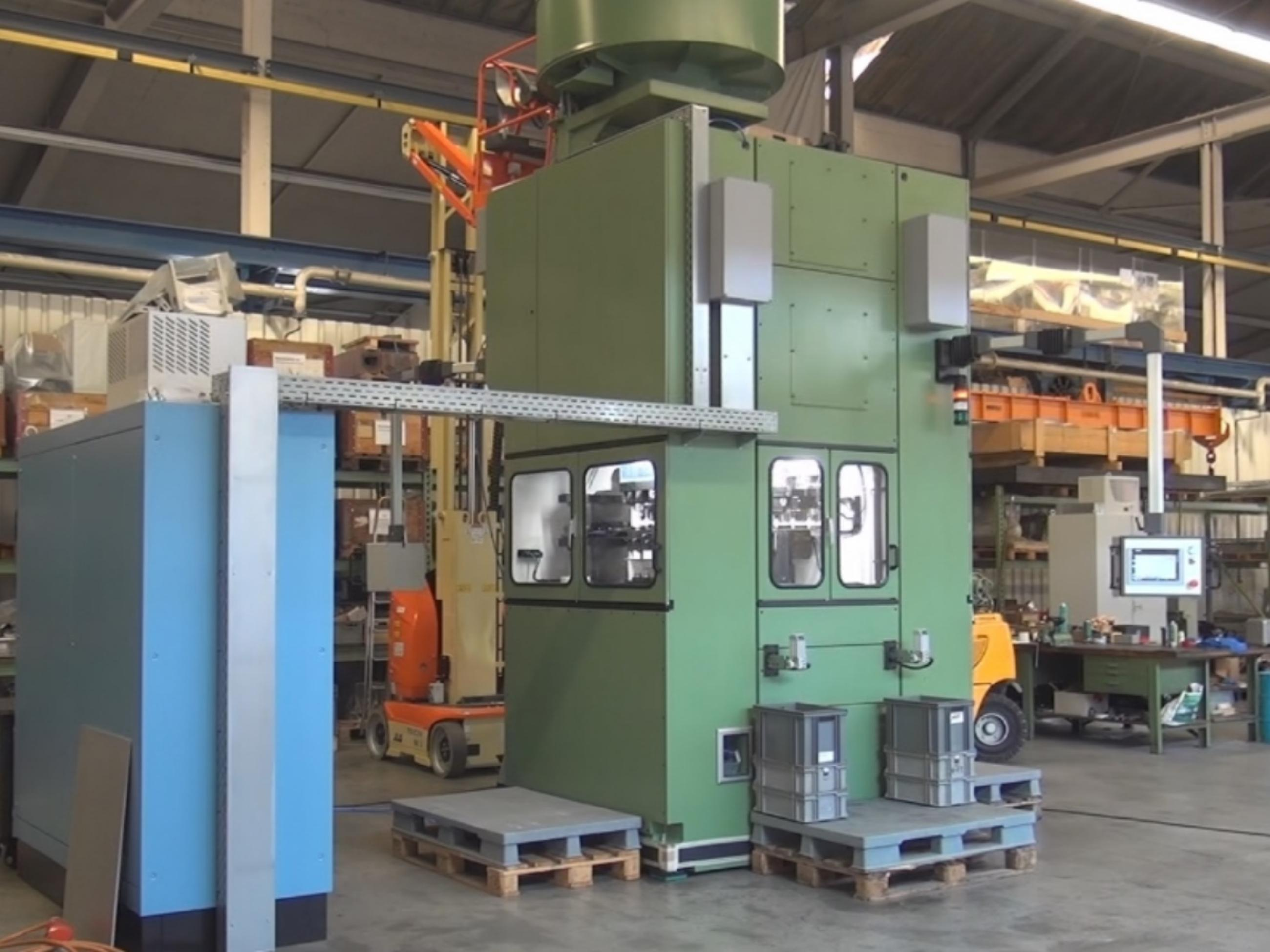 Nobag, combined heading, indenting and tapering press